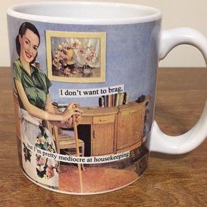 "Mug comical NEW 4"" I don't want to brag ..."